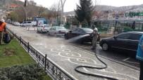 Bayburt Belediyesi Ekipleri Cadde Ve Kaldırımları Yıkadı
