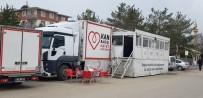 Kızılay Mobil Kan Toplama Aracı Aşkale'de Kan Topladı