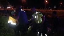 Karaman'da Motosiklet Devrildi Açıklaması 2 Yaralı
