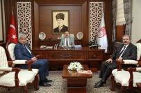 Aras Edaş Genel Müdürü Fikret Akbaş, Vali Pehlivan'ı Ziyaret Etti