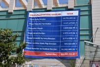 VERGİ DAİRESİ - Belediyenin Borcunu Çarşı Meydanına Astı