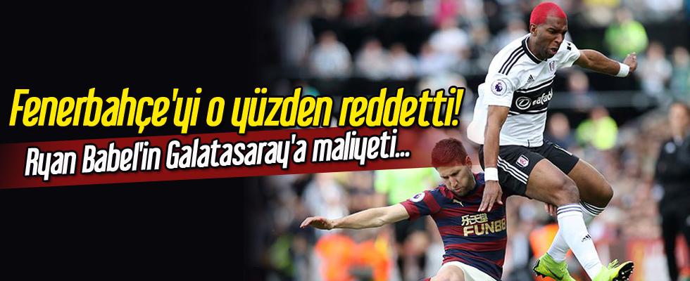 Fenerbahçe'yi o yüzden reddetti! Ryan Babel'in Galatasaray'a maliyeti...