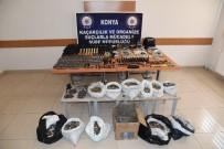 Konya'da Kaçak Tabanca Ve Sahte Madeni Euro Operasyonu