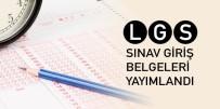 GİRİŞ BELGESİ - LGS İçin Giriş Belgeleri Yayımlandı