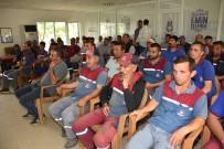 Belediyenin Açık Alanda Çalışan İşçilerine Cilt Kanseri Anlatıldı