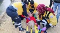Sulama Kanalına Düşen Çocuğu İtfaiye Kurtardı