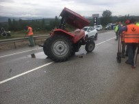 Traktör İle Kamyon Çarpıştı Açıklaması 2 Yaralı