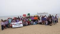 Öğrenciler Kızkalesi Sahilini Temizledi