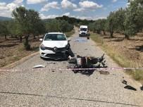 Otomobille Motosiklet Çarpıştı Açıklaması 1 Ölü