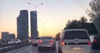 SOSYAL MEDYA - Trafikte makas atma yarışı kamerada