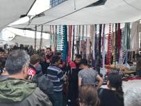 GÖZTEPE - Semt Pazarında Makaslı Kavga Açıklaması 3 Yaralı
