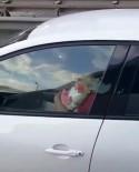 (Özel) Kucağında Bebek İle Direksiyon Başına Geçen Sürücü Kamerada