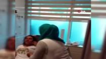 (Özel) Yangından Battaniyeye Atlayıp Kurtulan Anne Ve Kızının Hastanedeki Görüntüleri Ortaya Çıktı