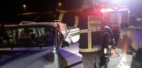 İki Otomobil Çarpıştı Açıklaması 11 Yaralı