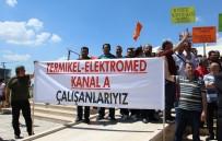 Kanal A, Termikel Ve Elektromed Çalışanlarından AKM'de Basın Açıklaması