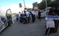 (Özel) Virajı Alamayıp Bariyerlere Girdi, Yaralı Halde Yürürken Yola Yığıldı