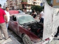 2 Gün Önce Tamirhaneden Çıkan Otomobil Alev Alev Yandı