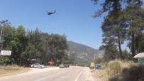Korkuteli'nde Helikopter Destekli Trafik Uygulaması