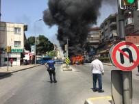 BAĞDAT - Maltepe'de Minibüs Yangını