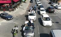 (Özel) İstanbul'da Lüks Otomobillerle Tehlikeli Mezuniyet Kutlaması Kamerada
