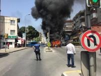 BAĞDAT - Yolcuları İndirip Minibüsü Ateşe Verdi