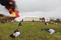 KIYI EMNİYETİ - Trabzon Havalimanı'ndaki Uçak Kazası Tatbikatı Gerçeğini Aratmadı