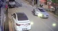 Darp ettiği kadına otomobilden attı