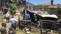 Köyde Çıkan Yangında Evin Deposu  Küle Döndü