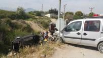 Ticari Araçla Otomobil Çarpıştı Açıklaması 6 Yaralı