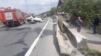 D100 KARAYOLU - Bariyerlere Çarpan Cip Takla Attı Açıklaması 2 Yaralı