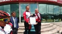 SUBAŞı - 'İlk Adım'dan Kurtuluşa Ata'nın İzinde' Sloganıyla Pedal Çeviren Sporcular Yola Çıktı