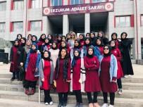 KIZ ÖĞRENCİLER - Şehit Hasan Yılmaz KAİHL Proje Okulu Öğrencileri Adliye'de