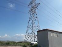YÜKSEK GERİLİM - Yüksek Gerilim Enerji Nakil Hattına Yıldırım Düştü