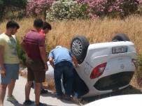 ADLIYE SARAYı - Direksiyon Hakimiyeti Kaybolan Otomobil Takla Attı Açıklaması 2 Yaralı
