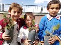 Kars'ta Üniversite Öğrencileri Fidan Dikti