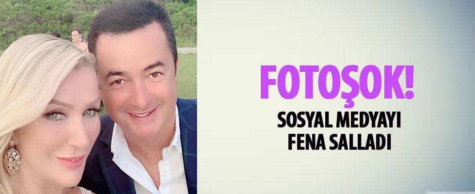 Seda Sayan'ın fotoşop uygulamasından Acun Ilıcalı da nasibini aldı