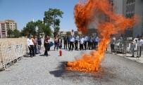 Battalgazi Belediye Personeline Yangın Söndürme Eğitimi Verildi