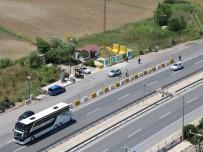 KONTROL NOKTASI - Çanakkale'de Sürücülere Havadan Denetim
