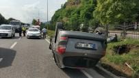 ORHAN ÖZTÜRK - Cenaze Dönüşü Otomobil Takla Attı Açıklaması 1 Yaralı