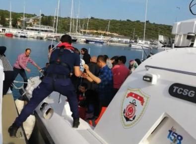 Kuşadası Körfezi'nde 22'Si Çocuk 54 Kaçak Göçmen Yakalandı