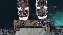 (Özel) İstanbullular Ramazan Bayramı'nda Vapurlara Akın Etti