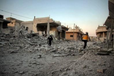 Suriye Ve Rus Jetleri El Mintar'ı Bombaladı Açıklaması 5 Sivil Öldü