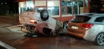 Takla Atan Araçtaki Sürücüyü İtfaiye Kurtardı