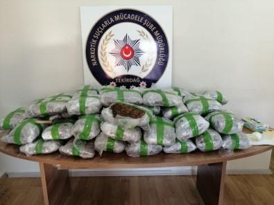 Tekirdağ'da 67 Kilogram Uyuşturucu Madde Ele Geçirildi