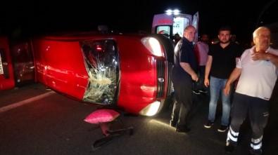 TEM'de Araç Takla Attı, 4 Kişi Yaralandı