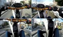 Motosikletlinin 'Tek Teker Terörü' Kamerada