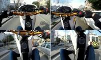 (Özel) Üsküdar'da Motosikletlinin 'Tek Teker Terörü' Kamerada