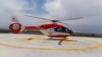 HELIKOPTER - Yaralı İşçi Helikopter Ambulansla Hastaneye Yetiştirildi