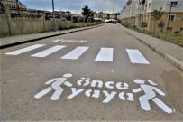 YAYA GEÇİDİ - Tuşba'da 'Öncelik Hayatın, Öncelik Yayanın' Çizgi Çalışması