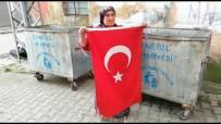 'Bunun Yeri Çöp Değil, Başımızın Üstü' Dedi, Çöpte Bulduğu Türk Bayrağını Evinin Kapısına Astı
